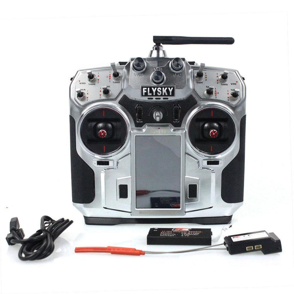 FS-i10 Flysky 2.4G 10CH AFHDS2A LCD Radio Transmitter & Receiver for RC Mode A190 STA flysky 2 4g 6ch channel fs t6 transmitter receiver radio system remote controller mode1 2 lcd w rx rc helicopter multirotor