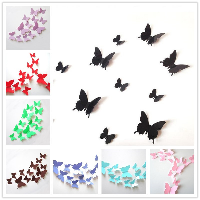 Aliexpress Com Buy 12pcs Lot 3d Butterfly Wall Sticker