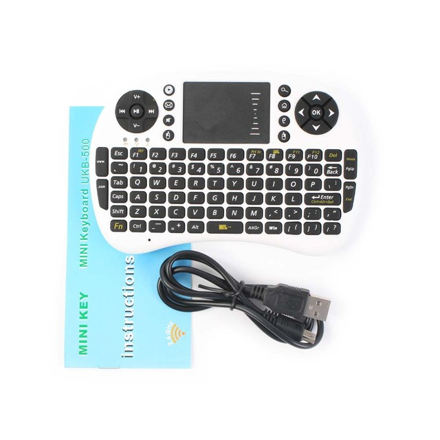 On promotion UKB-500-RF 2.4G Wireless Mini Touchpad Keyboard With Backlight 92-Keys