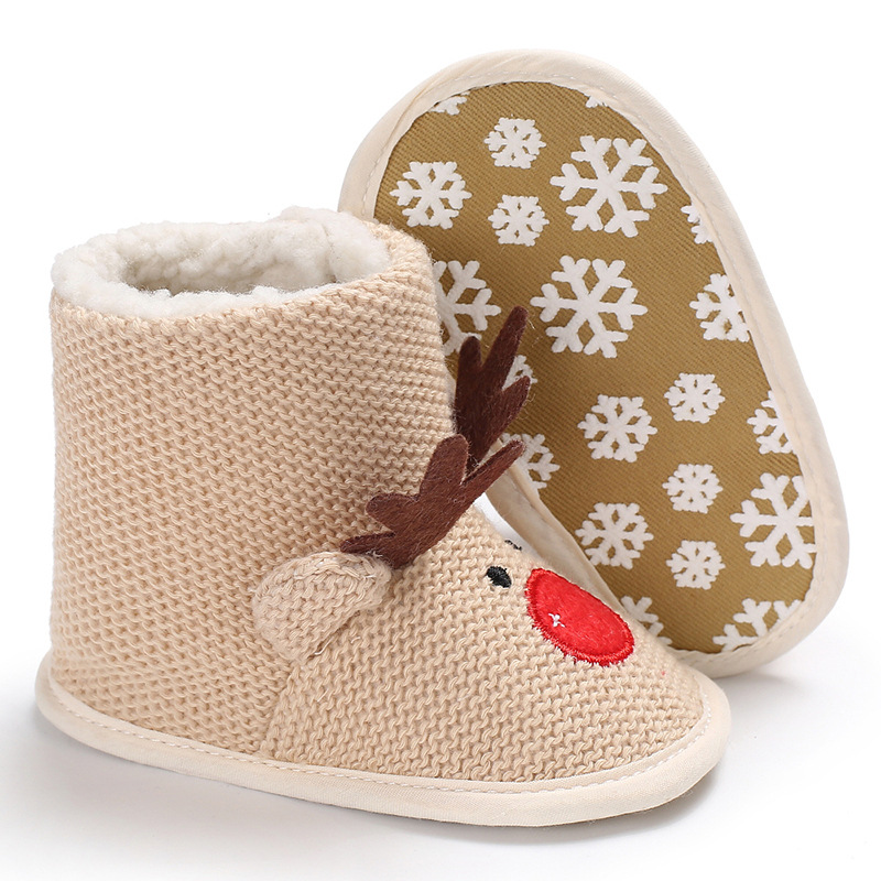 super cute deer design baby boots soft sole baby boots first walker indoor baby girls boys shoes 2018 new arrival