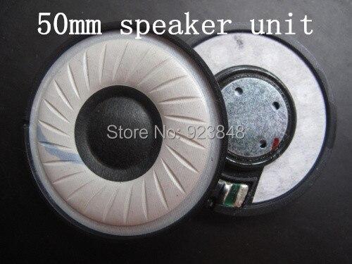 50 MM unité haut-parleur Portant un soie laine composite cône unité à membrane BRICOLAGE casque accessoires 1 paire = 2 pcs