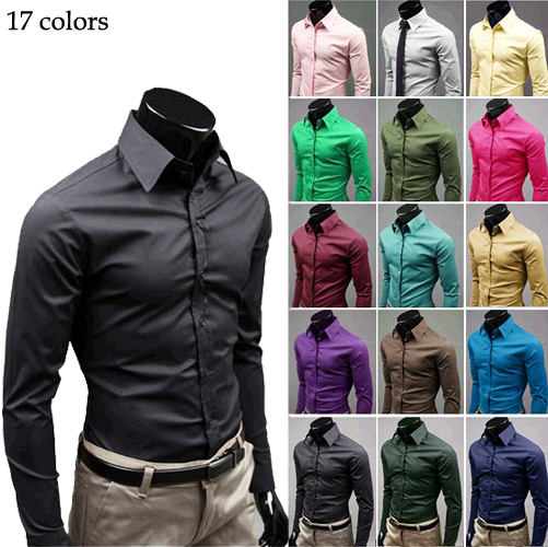 New Arrival Hot Men's Casual Shirts Cool Slim Shirts Fit Stylish ...