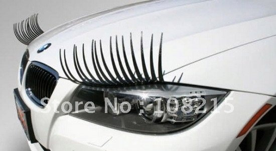 2pcs=1pair charming eyelash stickers for cars high quality promotion wholesale and detail free shipping ETP-CA003