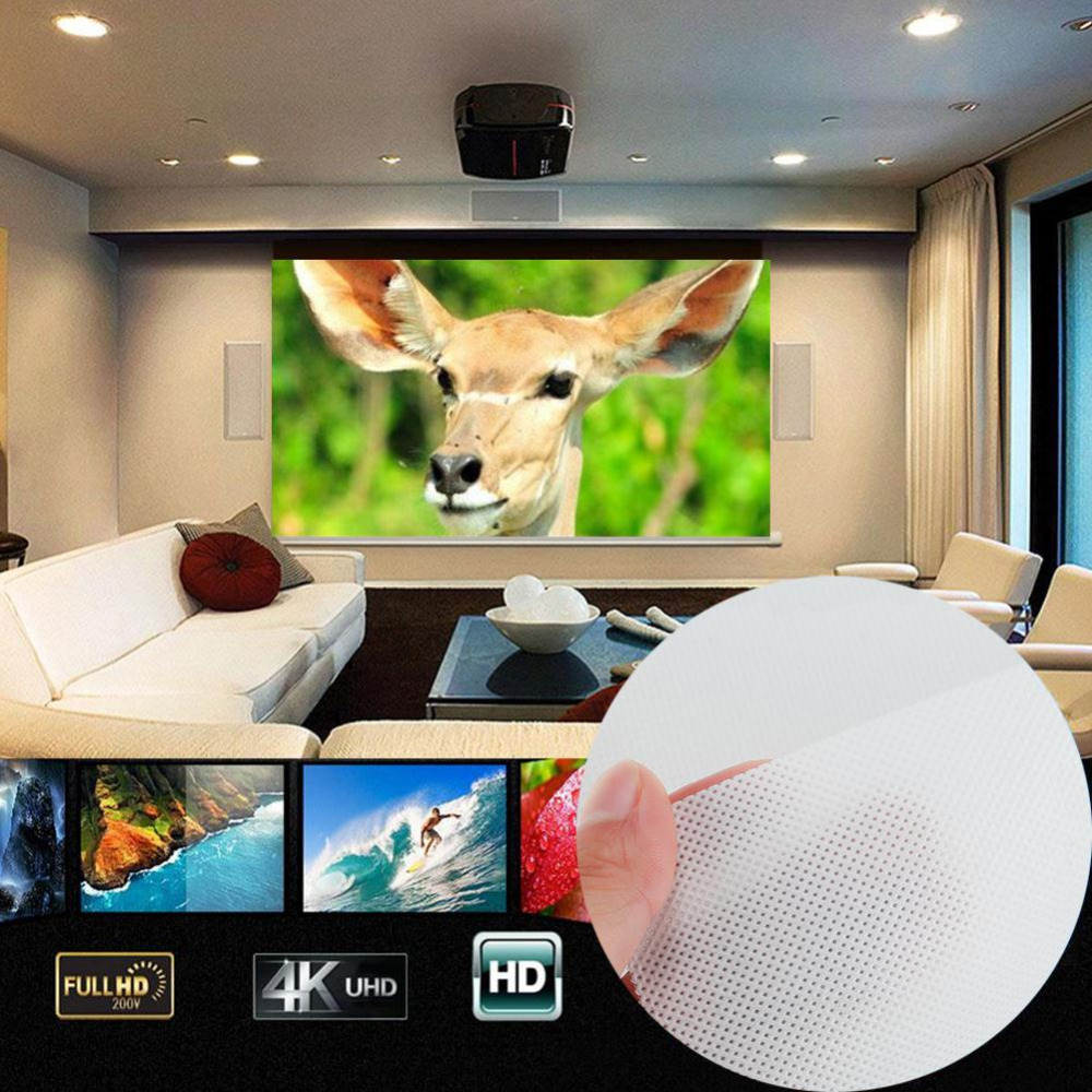 60 inch 16:9 Projector Projection Screen HD Projector Home Theater Cinema Movie