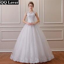 b4f30c903 QQ Lover 2018 encaje bordado rebordear Vintage vestido de boda dulce  correas Puff hilo(China