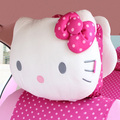 Car-Styling Hello Kitty Car Seat Cover Pad Seat Cushion Head Pillows for Car Interior Accessory Rearview Mirror Cover