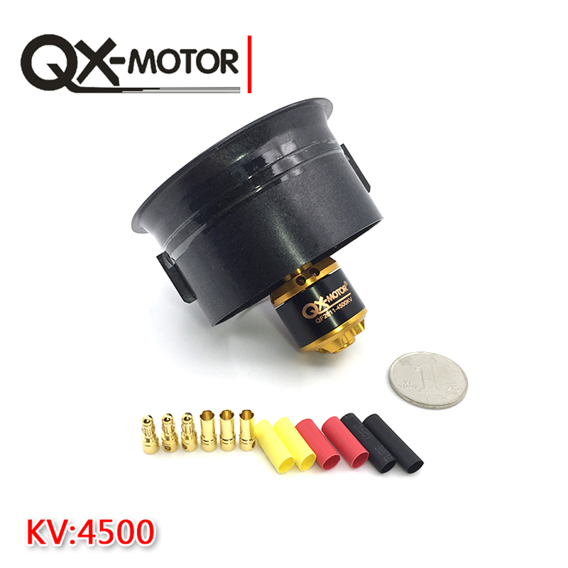 Image 2 - QX Motor Electric Ducted Fan 2611 4500KV Brushless Motor 64MM EDF 5 Blades Unit 40A esc for RC Airplane Model Accessories Parts-in Parts & Accessories from Toys & Hobbies on AliExpress
