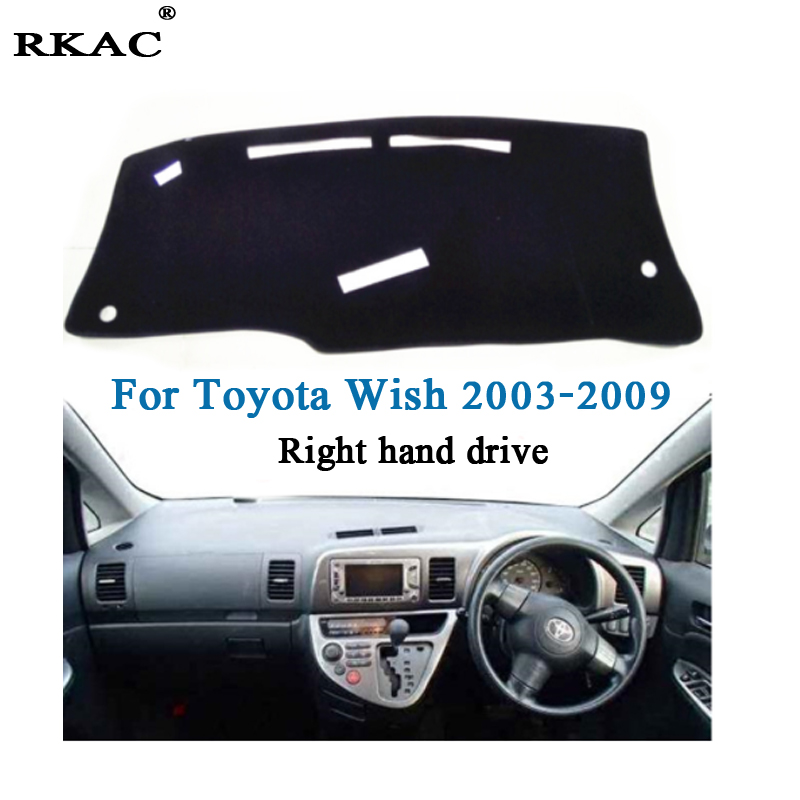 RKAC car dashboard mat cover for Toyota Wish 2003 2009 Right hand drive Polyester Fiber Auto
