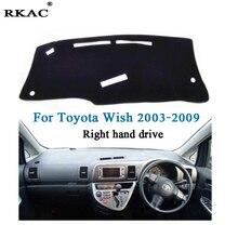 RKAC tampa esteira do painel do carro para Toyota Wish 2003-2009 Fibra De Poliéster Auto painel do lado Direito da unidade pad tapete para Toyota Desejo