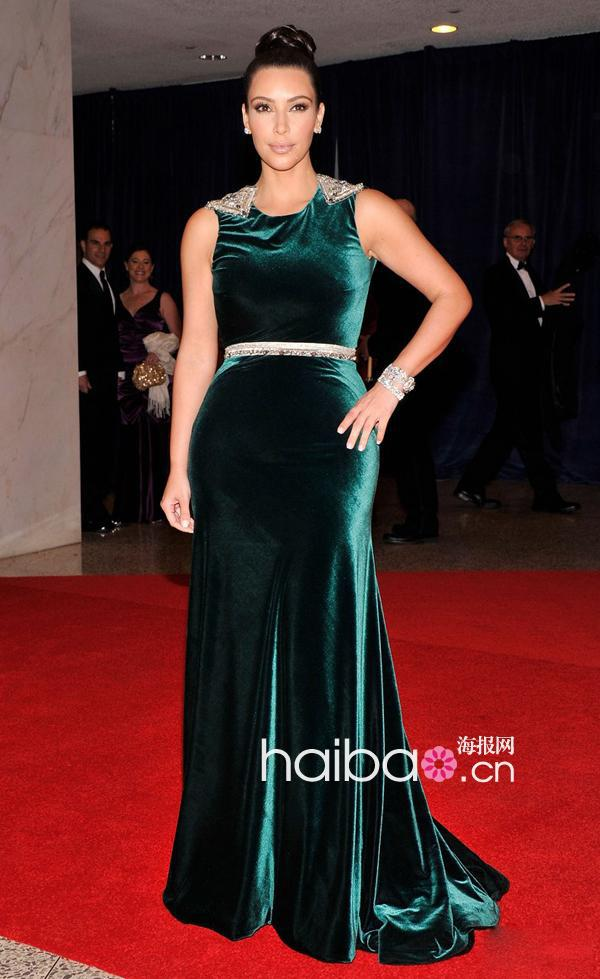 Carpet New Beading Fashion Hot&sexy Kim Kardashian Floor Length Special Long Party Prom Gown Celebrity mother of the bride dress