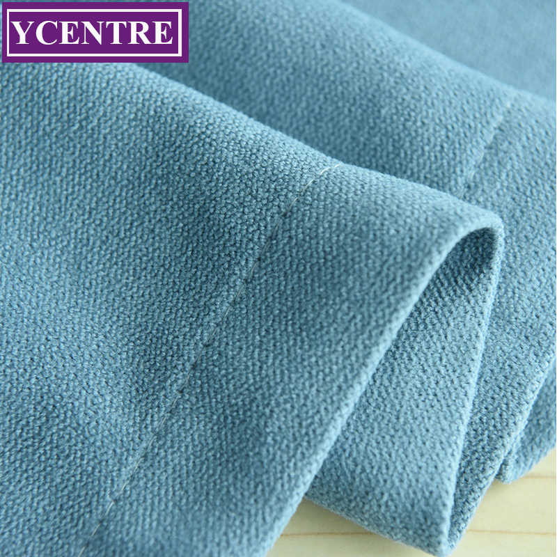 YCENTRE Soft Solid Thermal Insulated Window Curtains Modern Style Blue Drape Blinds Panel for Bedroom / Living Room /kids room