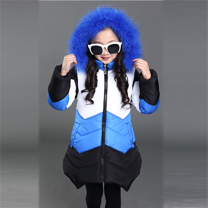 2016Fashion Girl's Down jackets/coats winter Russia baby Coats thick duck Warm jacket Children Outerwears HB1021 стоимость