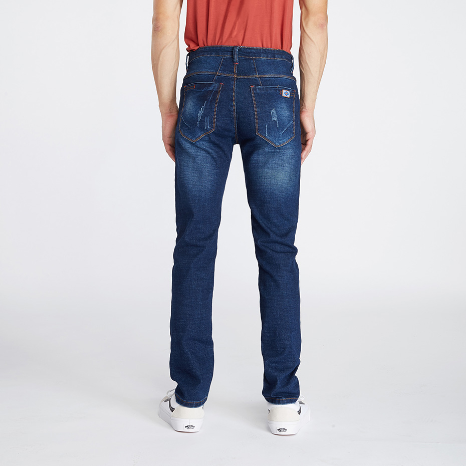 2ea56ff25d08f Drizzte Brand Men Plus Size 28 42 Stretch Denim Slim Jeans Blue Trendy  Trousers Pants Big Man Fashion Jean-in Jeans from Men s Clothing on  Aliexpress.com ...