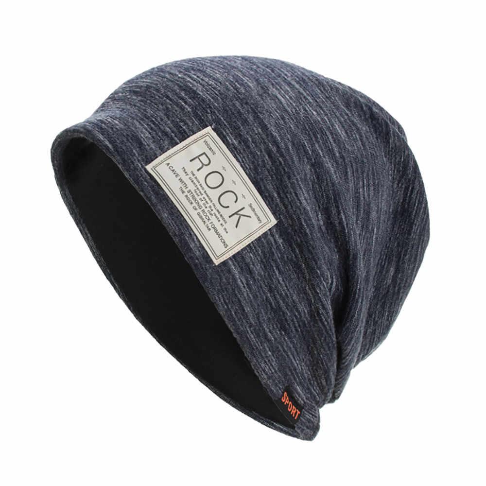 7942d1172d88f Printing Rock Women Men Warm Baggy Weave Crochet Winter Wool Knit Ski  Beanie Skull Caps Hat