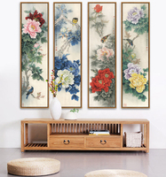 Traditional Chinese Painting Of Peony The National Beauty And Heavenly Fragrance Of China Unframd Canvas Print