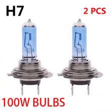 2 sztuk H7 12V 6000K 100W COB wysokiej jasne bardzo długi życie gazu niskie zużycie Canbus Xenon reflektor białe światła samochodowe żarówki
