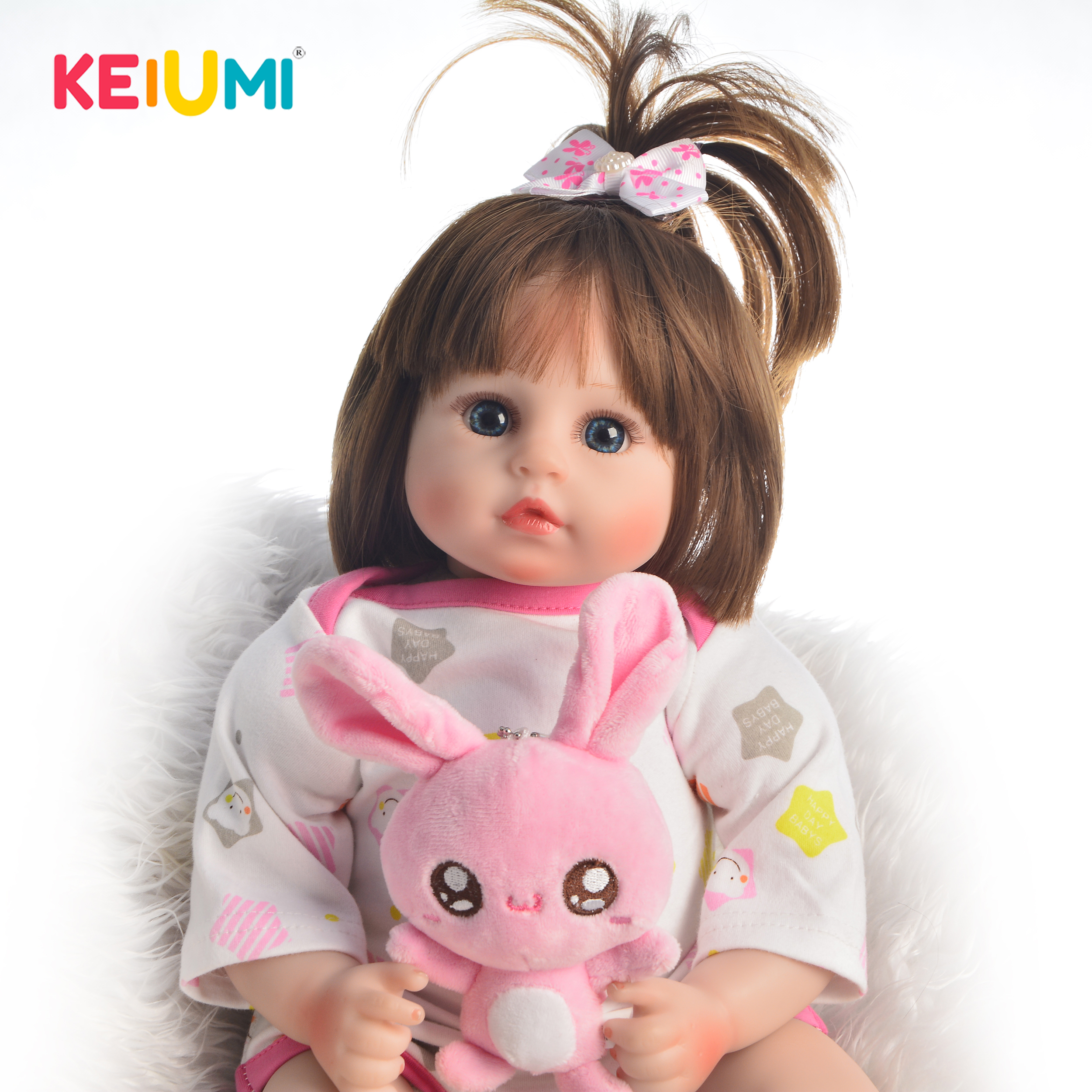 KEIUMI New Arrival 18 Inch Lifelike Reborn Baby Doll Soft Silicone 46 cm Real Looking Baby