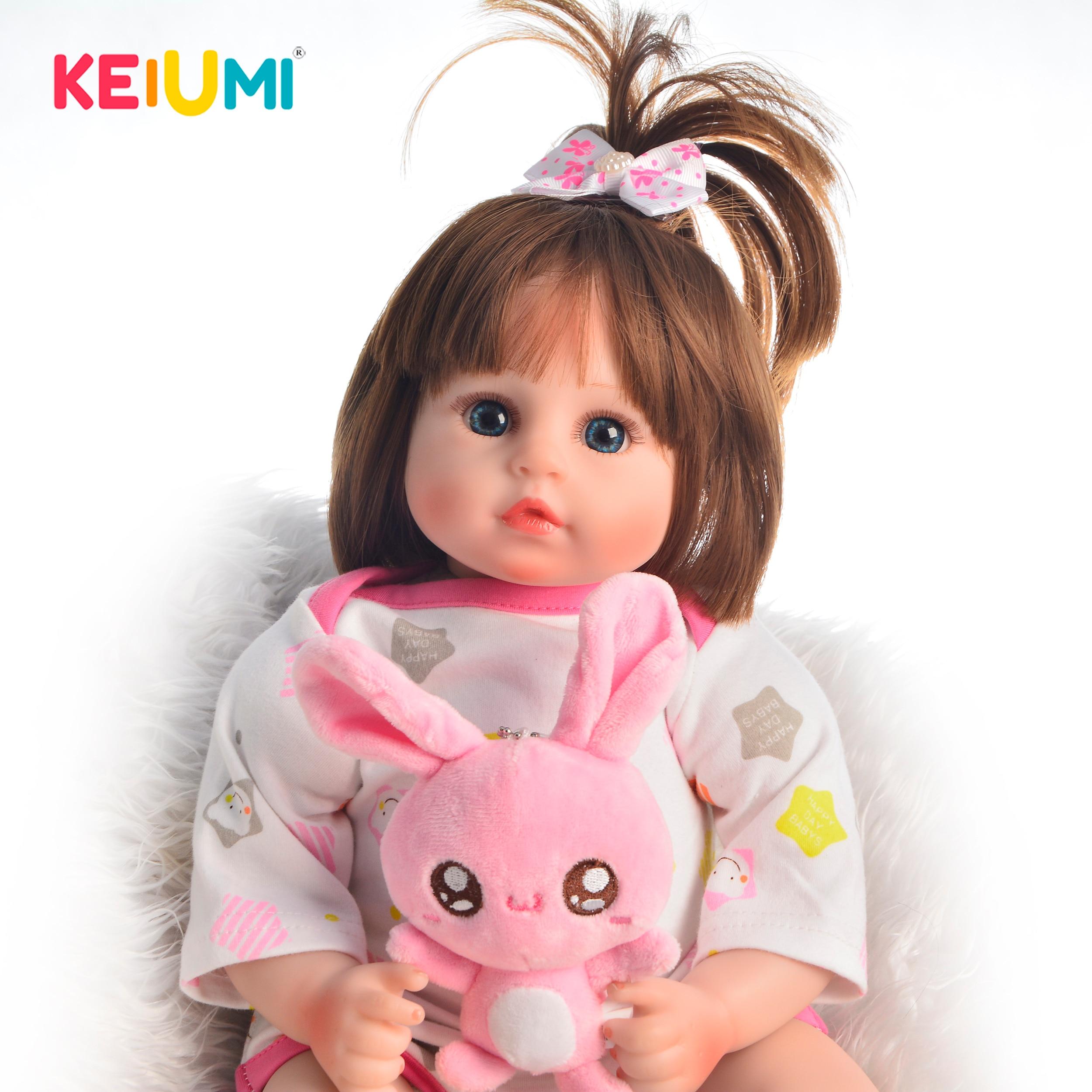 "18/""Soft Silicone Vinyl Reborn Baby Doll Lifelike Newborn Girl Child Toy Kid Gift"