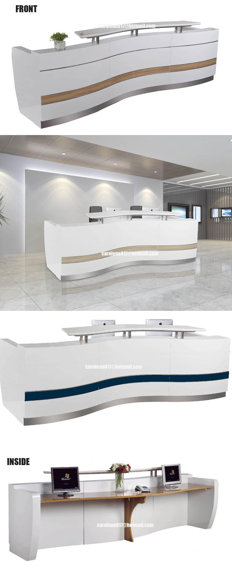 3, 3 спа салон дерево офис твёрдая поверхность прием перед стол дизайн qt3310g