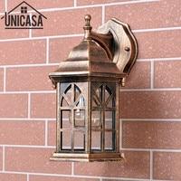 Antique Garden Outdoor Wall Lights Vintage Pathway Bar Wall Sconce Bronze Aluminum Industrial Lighting Indoor LED Lamp