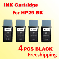 4x printer ink cartridges for hp29 for hp 29 Officejet 500 520 570 580 590 600 610 51629A