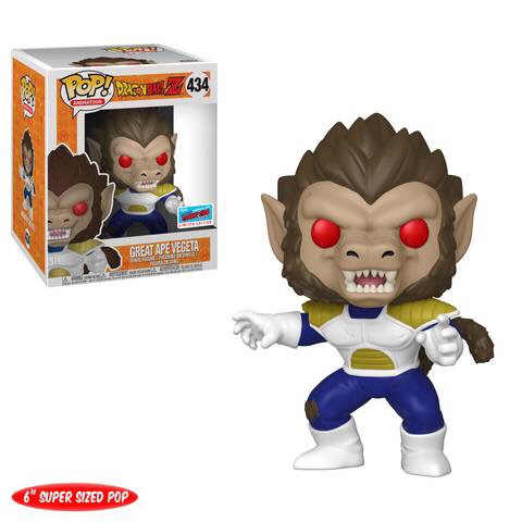 Funko POP GRETA MACACO VEGETA Dragon Ball Z Action Figure Collectible Modelo brinquedos para chlidren Presente de aniversário