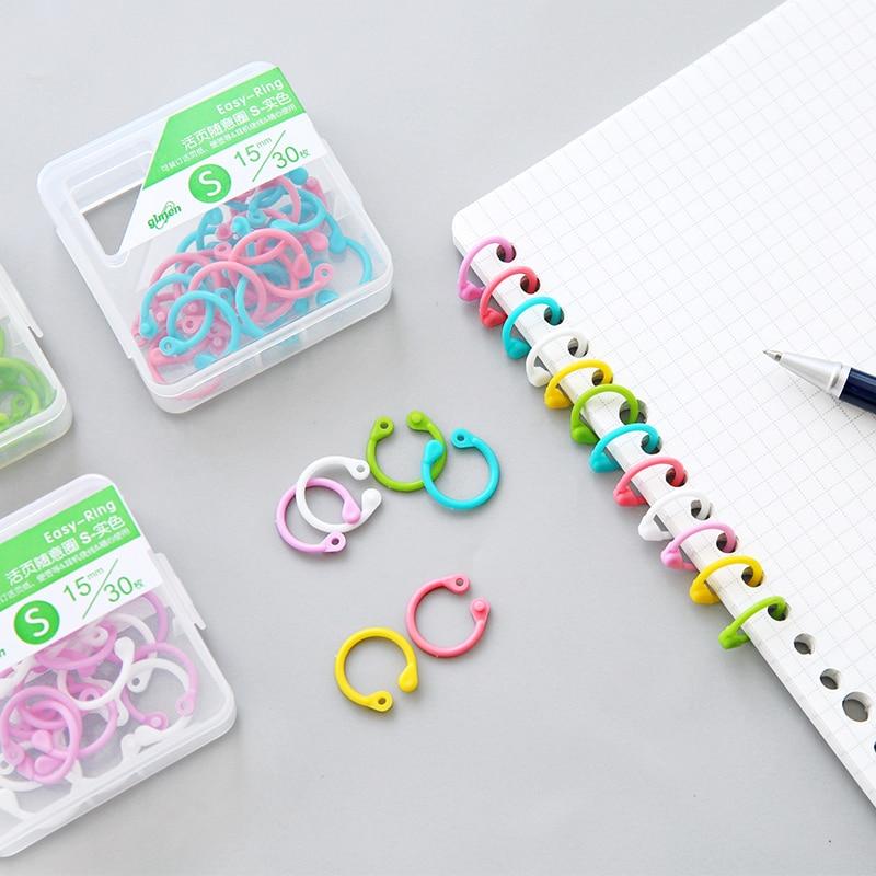 8pcs 30pcs Plastic Book Binding Rings Paper Clip Cable