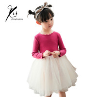 Baby Girl Party Mesh Dress Children Evening Clothing 2017 Spring Autumn Costume Kids Princess Chiffon Lace
