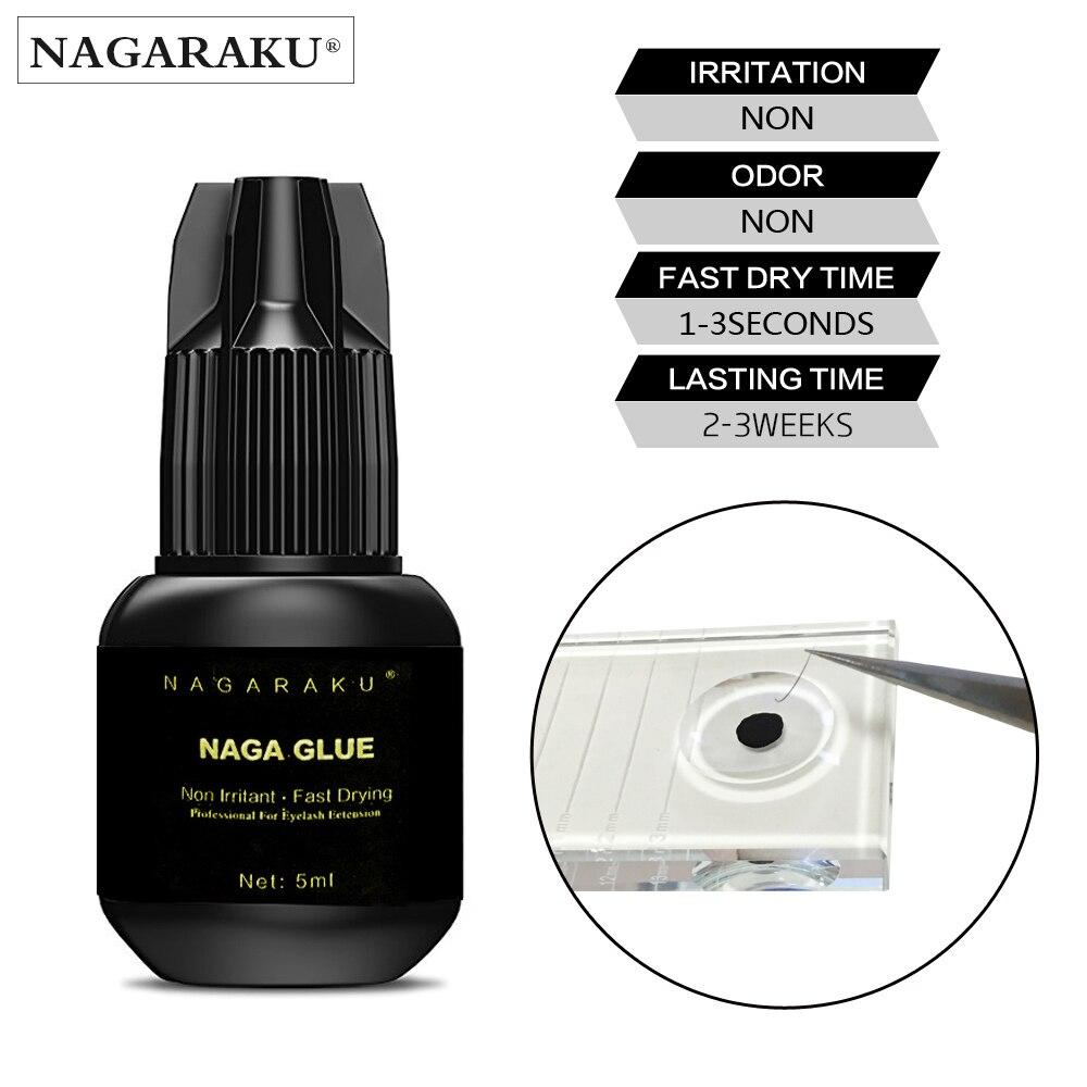 NAGARAKU 5ml Fast dry no odor no simulation lash glue eyelash glue eyelash extension glue individual eyelash glue
