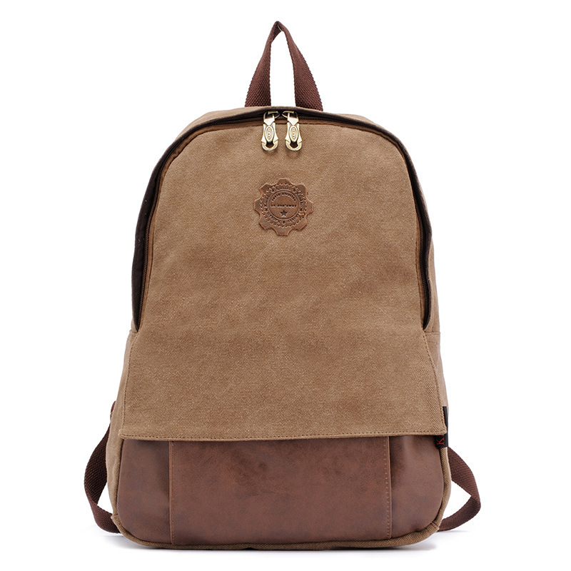 100% Cotton Washed Canvas Bag Mochila Brand Student Vintage School backpack Women Leather Rucksacks For Men Laptop bags AXB10