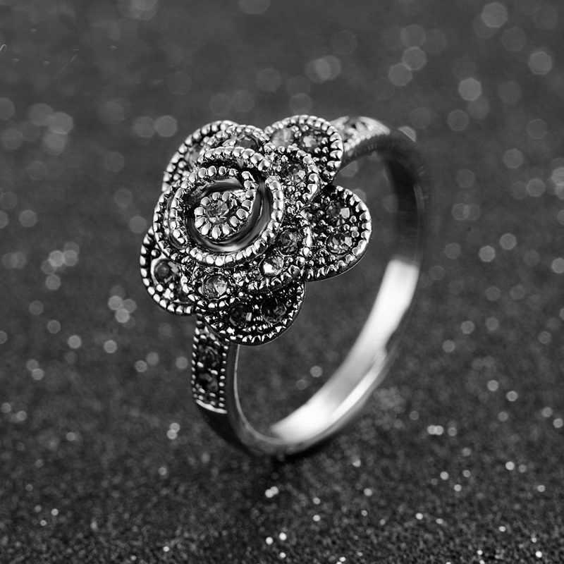Iutopian คุณภาพสูง Vintage Retro rose ดอกไม้สร้อยคอ Angels สำหรับผู้หญิงโบฮีเมียโบราณสำหรับคนรัก # NAJ2465