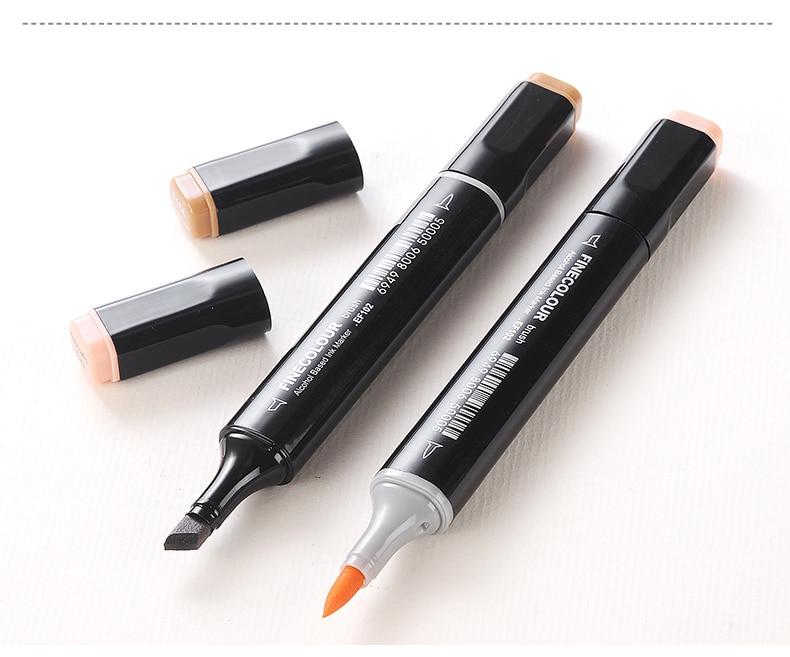 Finecolour Super Brush Fine Art Markers Alternative Copic Skin Tone Set