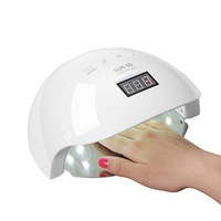 New Arrival SUN5s UV Lamp 50W UV LED Nail Lamp 30 LEDs Nail Dryer for All Gels With 10S/30s/60s/ Button Perfect Thumb Solution