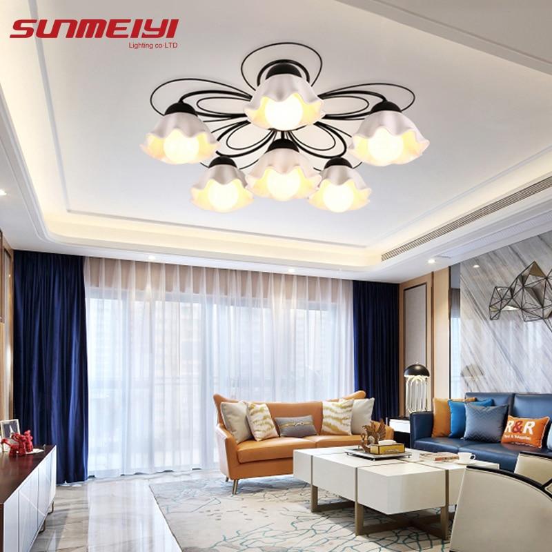 LED Ceiling Lights verlichting plafond Living room Bedroom Ceramic Lampshade Ceiling Lighting lamparas led de techo