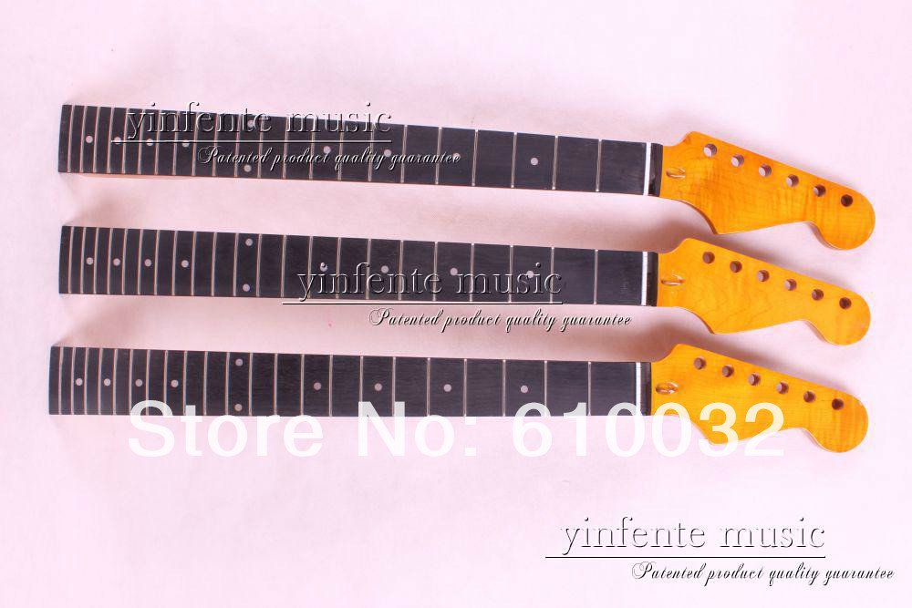 one Top grade unfinished electric guitar parts , Guitar Neck mahogany made rosewood fingerboard new high quality unfinished electric guitar neck mahogany made rosewood fingerboar