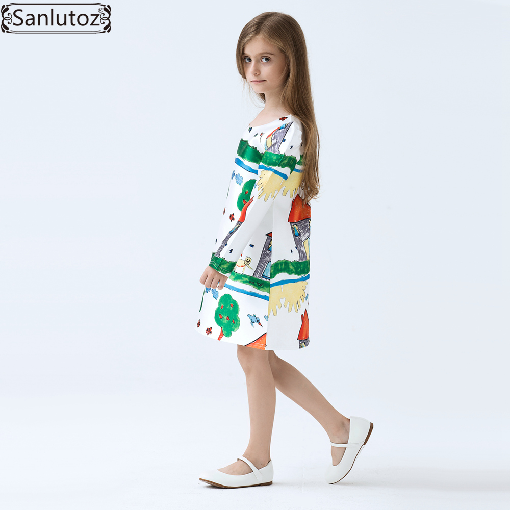 60c22086a Girls Dress Winter Kids Clothes Brand Children Dress Cartoon Girls ...