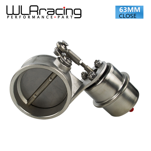 WLRING STORE Exhaust Control Valve With Vacuum Actuator Cutout 2 5 63mm Pipe CLOSED with ROD