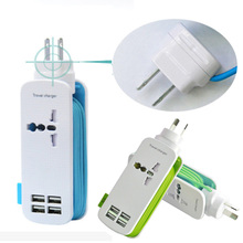 4 USB Fast Charger AC Power Adapter Universal Portable Mobile Phone Wall Charger 5V 4A For iPhone 6 6s iPad Samsung Xiaomi Brand