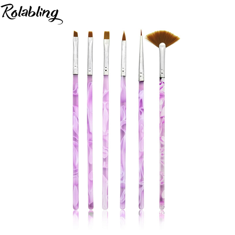10set/pack Purple Nail Brushes Acrylic UV Gel Nail Art Tips Painting Brush Pen Builder Handle Tool For Nail Art Painting 5pcs nail art tool dotting painting transparent plastic marbleizing pen for beauty