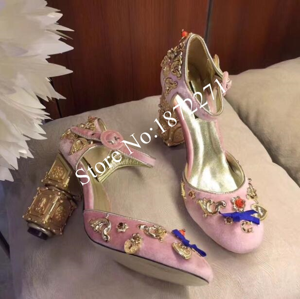 Vintage Studded Floral Embellished Mary Jane Pumps Thick Heel Velvet Ankle Strap Shoes Women Structured High Heel Pumps Size 10 mary sterling jane algebra ii essentials for dummies