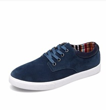 Man Casual Cheap Suede Flock Gentelman Lace-up Single Designer Casual Board shoes