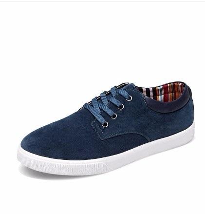Man Casual Cheap Suede Flock Gentelman Lace-up Single Designer Casual Board shoes