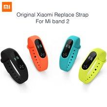 100% original xiaomi mi banda 2 correa correa de silicona de colores pulsera para mi banda banda 2 pulsera inteligente para xiaomi 2 accesorios