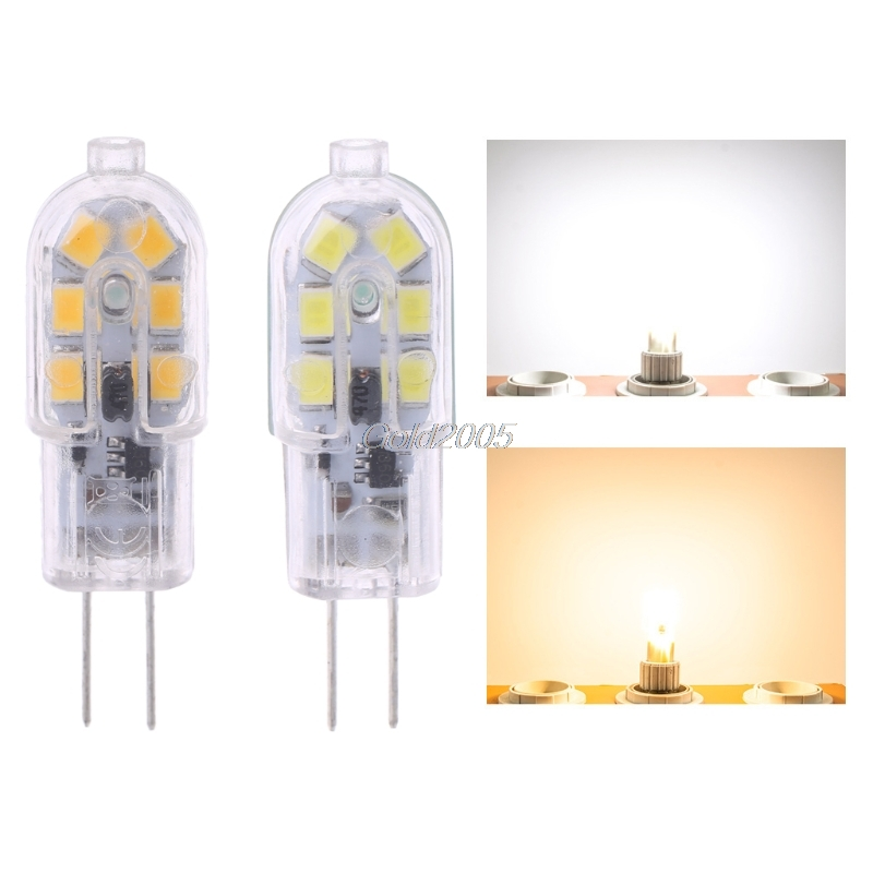 <font><b>G4</b></font> Base SMD 2835 <font><b>2W</b></font> 12LED Warm/Cool White Light Bi-Pin Lamp Bulb AC/DC <font><b>12V</b></font> G07 Drop ship image