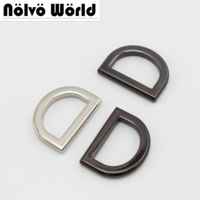 10pcs 50pcs 25mm Ziny Alloy Gold Metal Thickness D Ring Diy Bags Strap Hardware Online Wholesale Shop Cheap