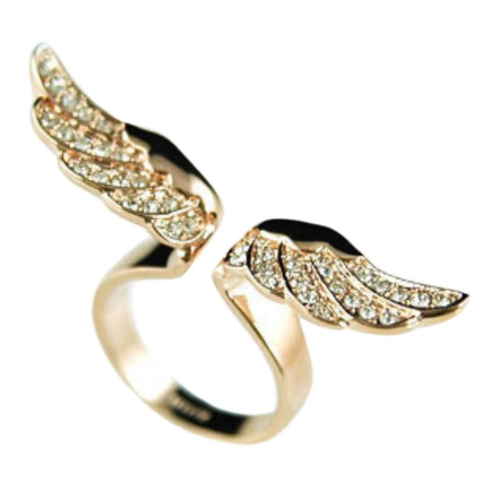 NEW Arrival Charming Jewelry Golden Angel Wings Shaped Full ...