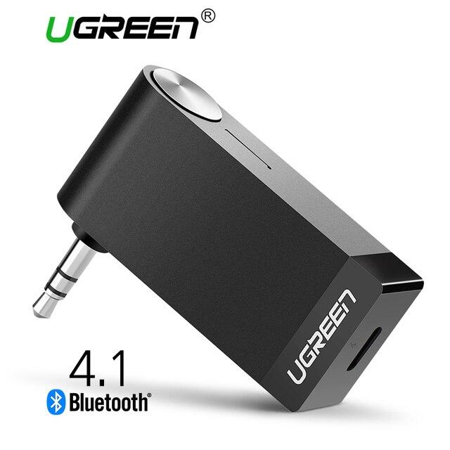 Ugreen 3.5mm Jack de Áudio Bluetooth Receptor de Música Sem Fio Bluetooth Receptor Adaptador Aux Carro Cabo Livre para Speaker Fone De Ouvido