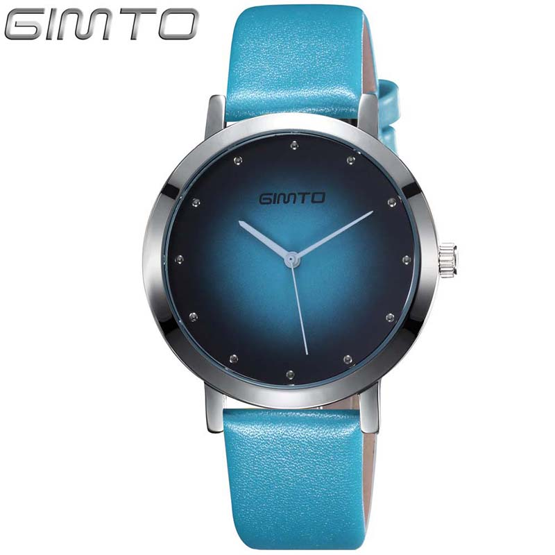 Women Watches Creative Casual Quartz Ladies Watch GIMTO Brand Dress Girls Lovers Clock Bracelet Women Wristwatch Sport Relogio onlyou ceramic fashion watch women luxury white strap quartz wristwatch casual ladies bracelet dress watches lovers clock unique