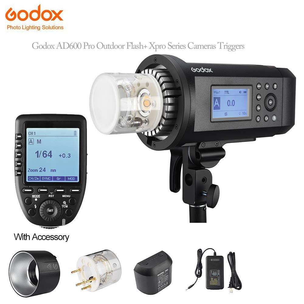 Godox AD600 Pro AD600Pro 600 Вт 1/8000 s HSS ttl Flash + Xpro-C/N/ s/F/O камеры триггера для Canon Nikon sony Fujifim 2,4 г Беспроводной ...