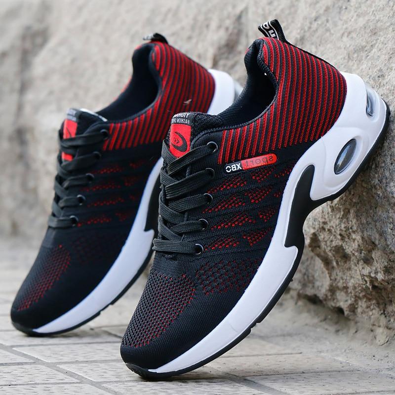 Trainers Men Air Shoes Breathable Mesh Fashion 2019 Casual shoe Non-slip Vulcanize Shoes for Boys Sneakers Lace up zapatillas de moda 2019 hombre